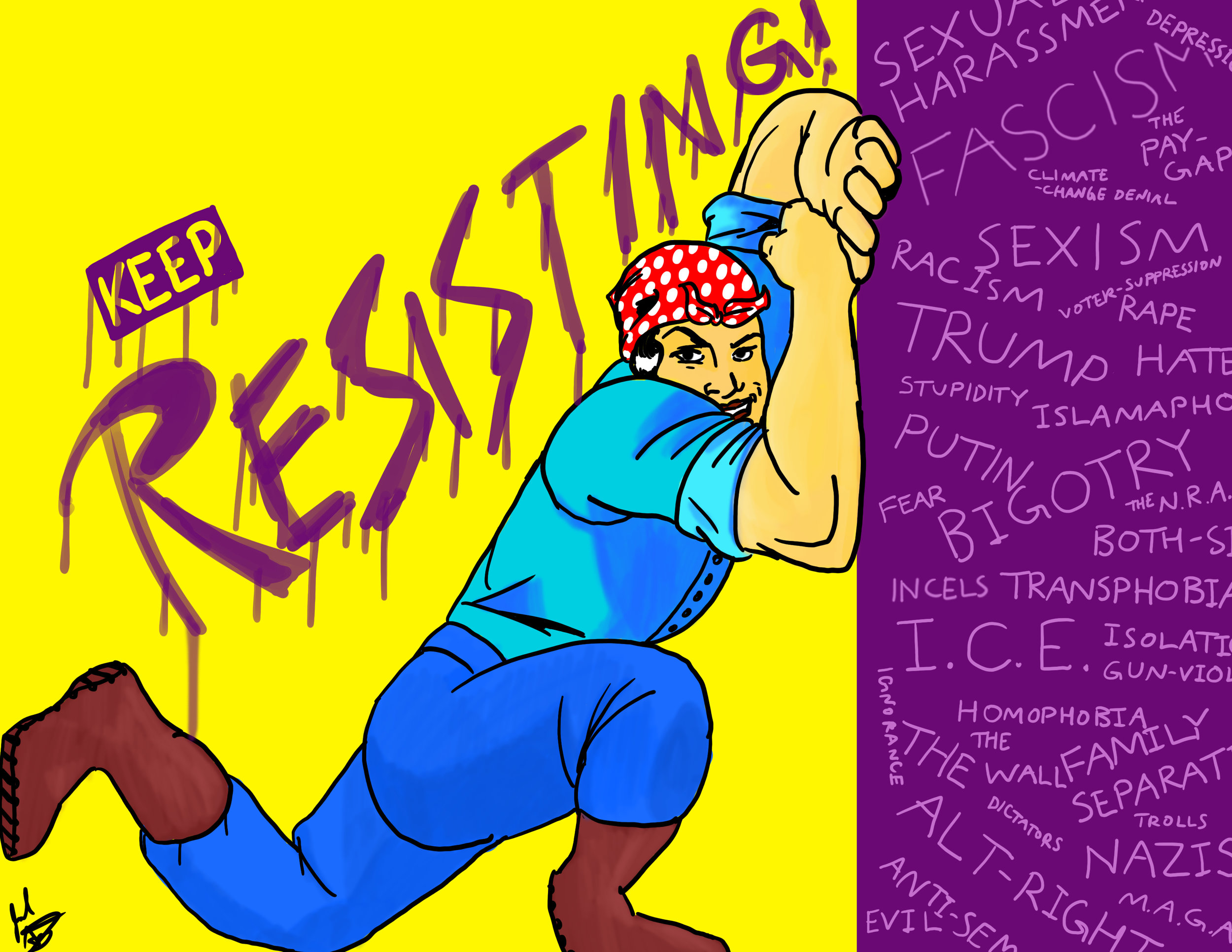 Keep Resisting!   (on Redbubble)
