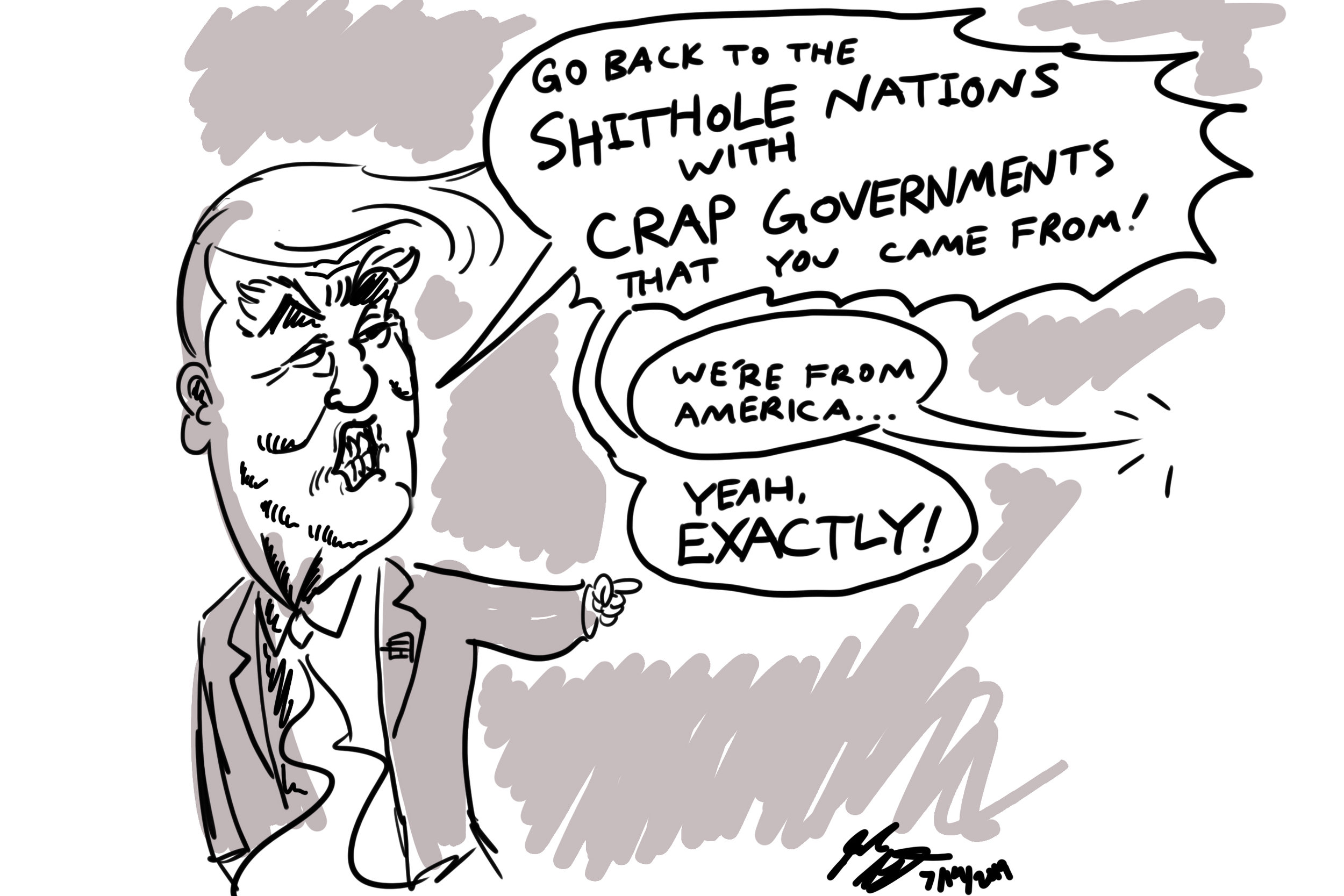 Trump Political Cartoon 7/14/2019