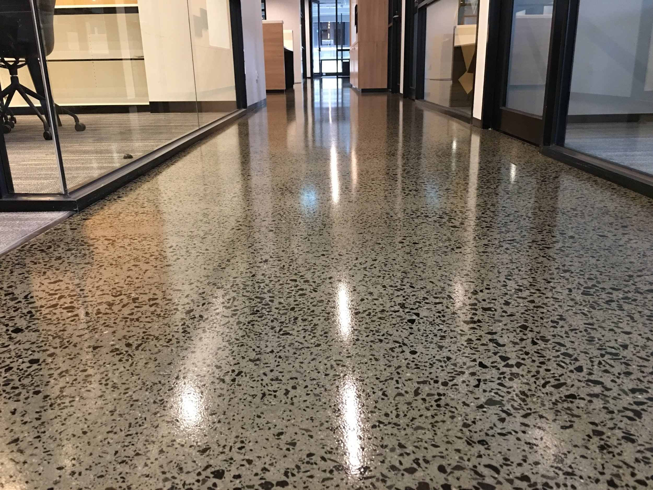 Grind and Seal High Gloss or Matte Clear Epoxy