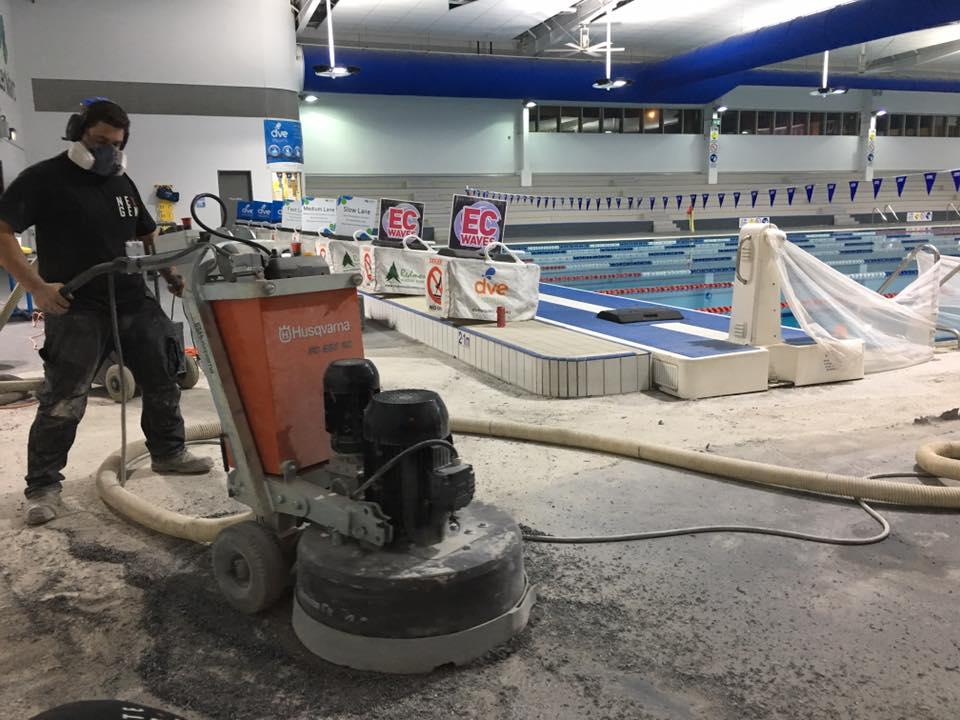 Husqvarna Grinder Concrete Floor Grinding Preparation and Leveling