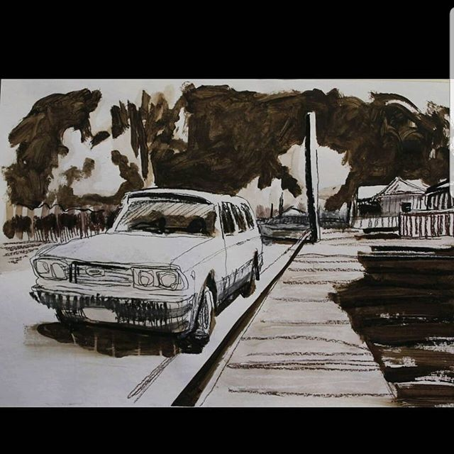 A work which is very close to my heart: 'My brother calls this place God's Country' has been selected for the Lynn McCrea Memorial drawing prize at @noosaregionalgallery . This animated portrait depicts the everyday happenings of Branxton, a town which shaped and made me which I miss dearly. Very proud to be able to share this work again. #lynnmccree #branxton #home #drawingiseverything #prize #animation #noosa #noosaregionalgallery #handdrawnanimation