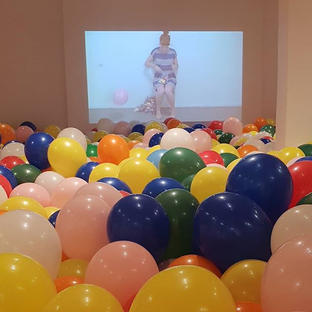 We are a bit out of breathe in Bondi this week after installing @michaelagleave 's new iteration of  Seven hour Balloon work for Festival of the winds. Join us for the opening tomorrow night from 6-8. #bondipavilion #michaelagleave #balloons #7hourballoonwork #pop #installation #ambitous #onlyjokingweusedaninflator #thatshowweart ...Also before you ask, don't worry these balloons are all full latex, ethically sourced, biodegradable and will be recycled into medical gloves at the end of the project!