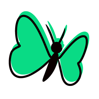 transform icon - butterfly