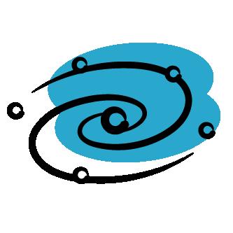evolve icon - blue galaxy