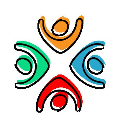 team development icon - 4 coloured people
