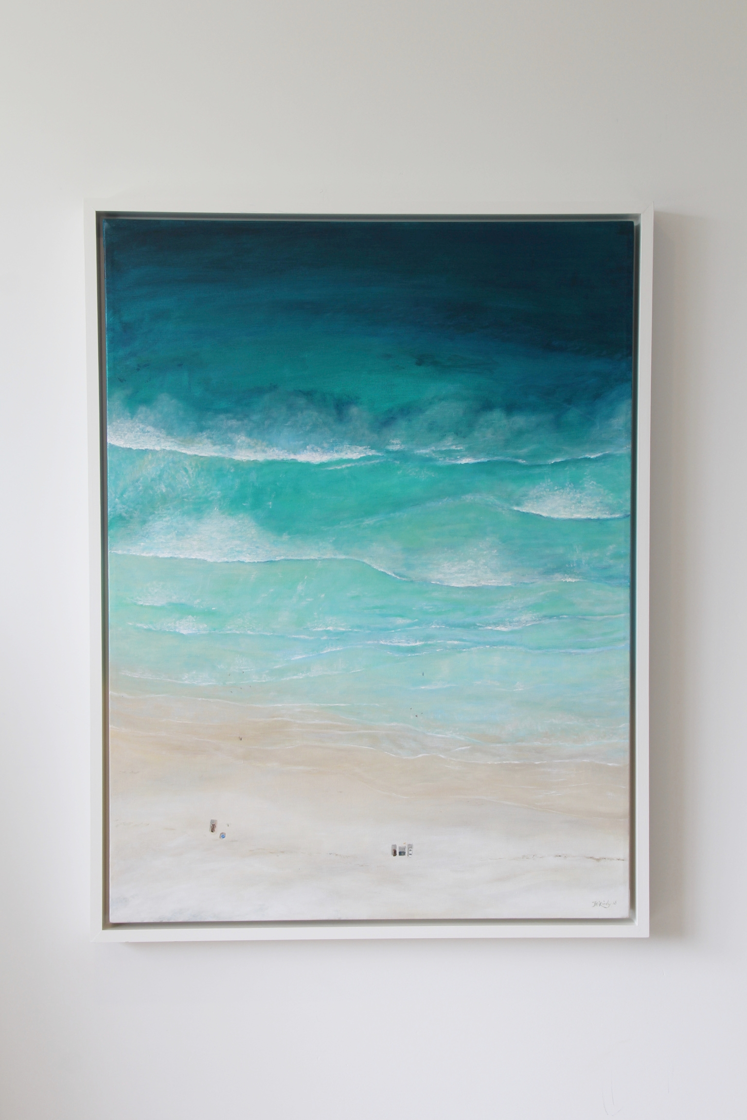 Beach Day at North Wedge - SOLDAcrylic on canvas and framed in a custom floating frame. 1075 x 820