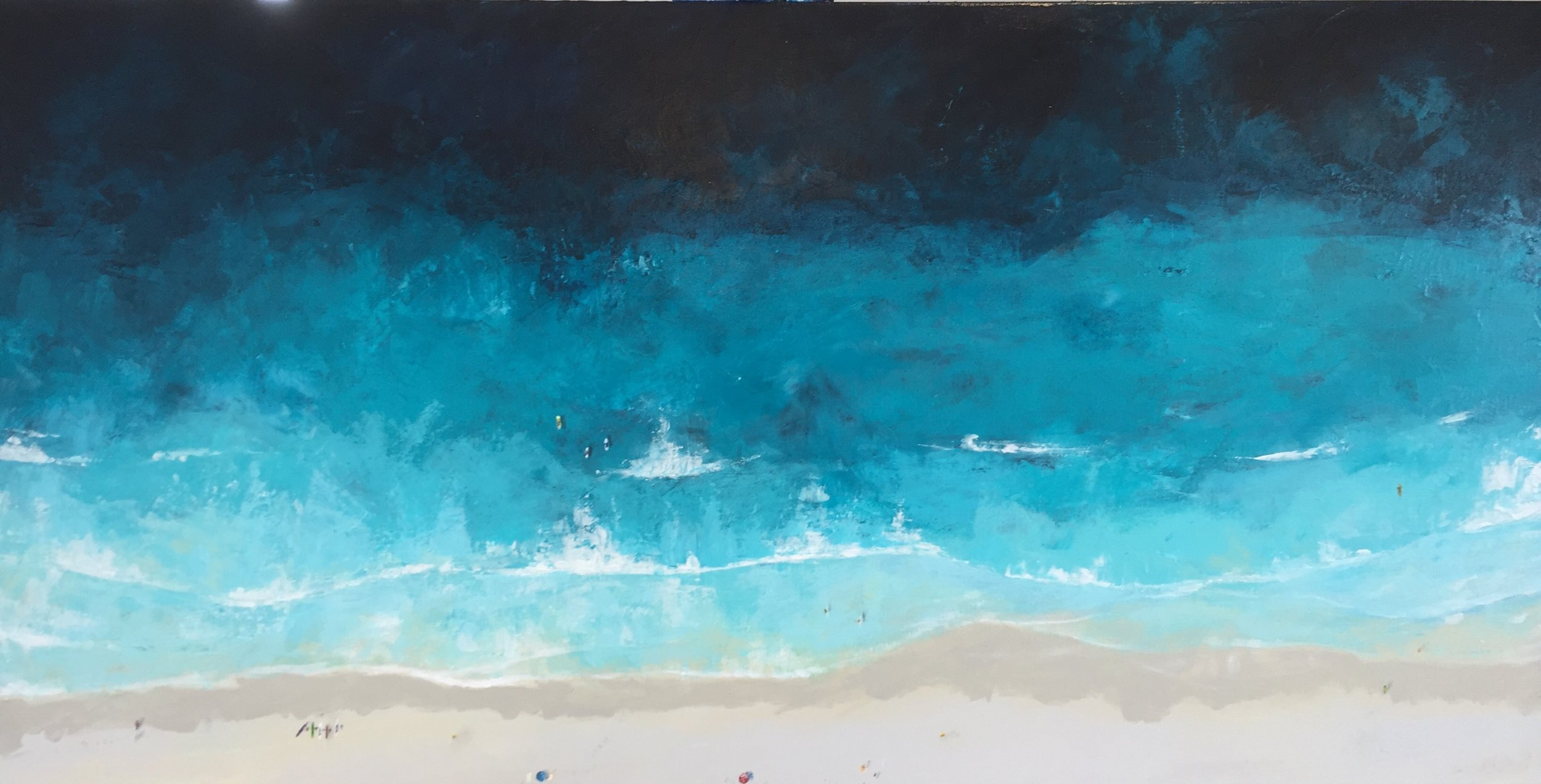 A Summers Day - SOLDAcrylic and impasto on gallery wrapped canvas.1500 x 650
