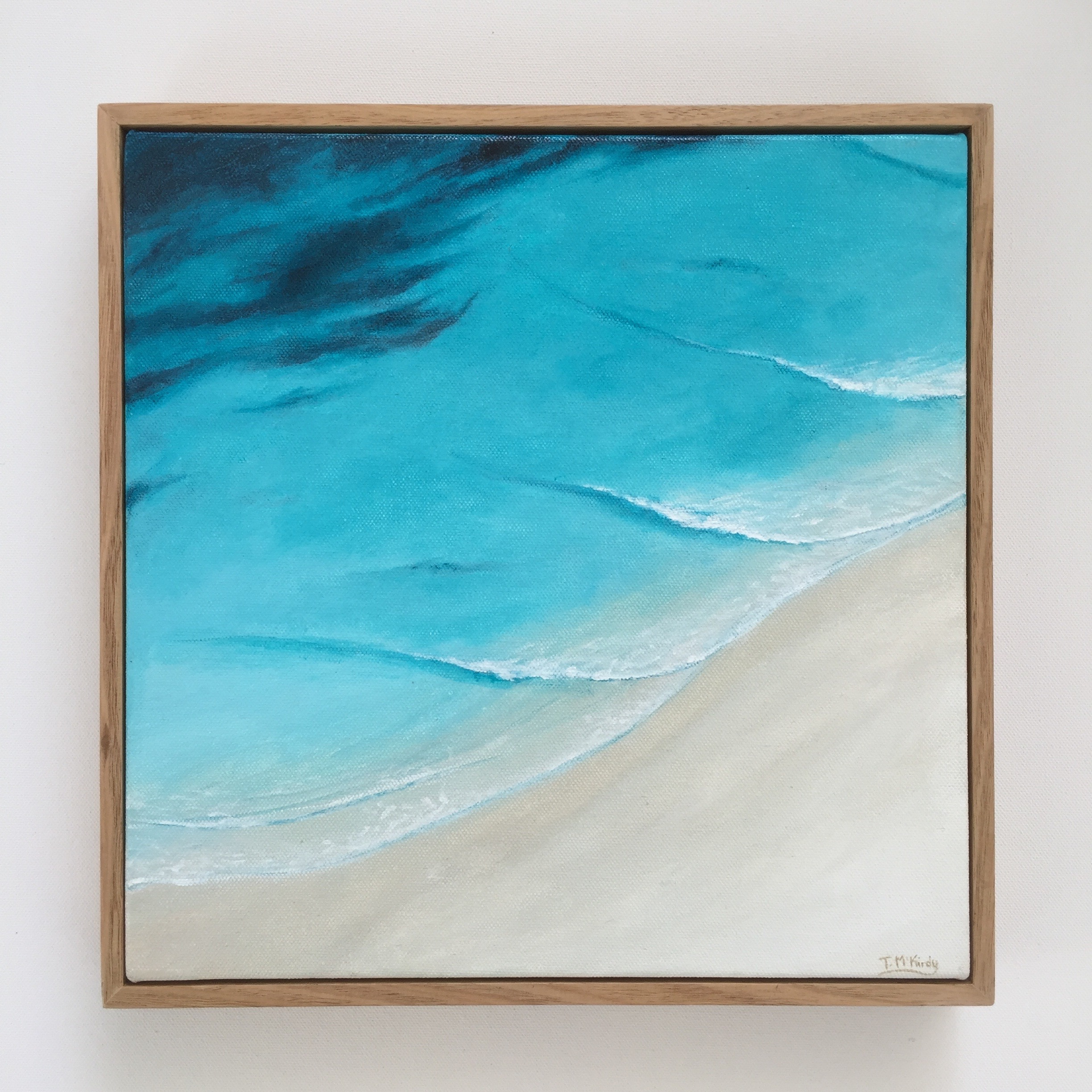 Point Break - $250Acrylic on gallery wrapped canvas. Australian oak frame.300 x 300mm.