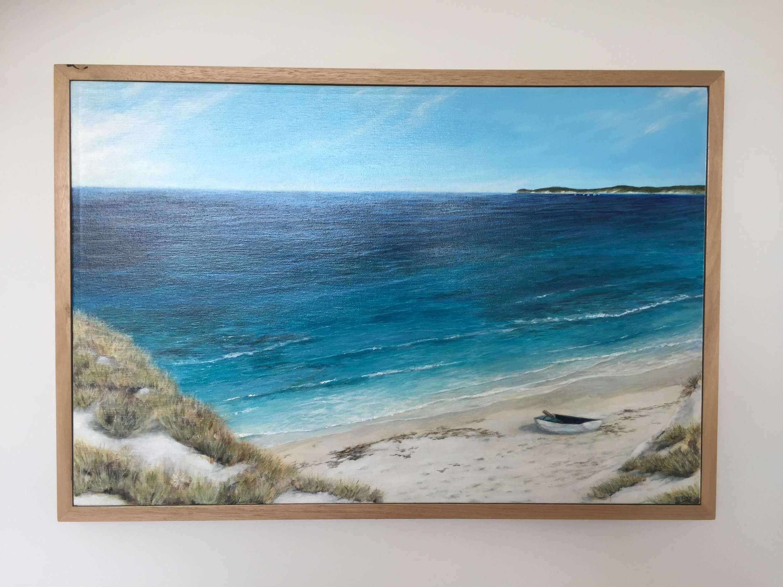 West Rottnest - $600Acrylic on canvas. Australian oak frame.760 x 510mm