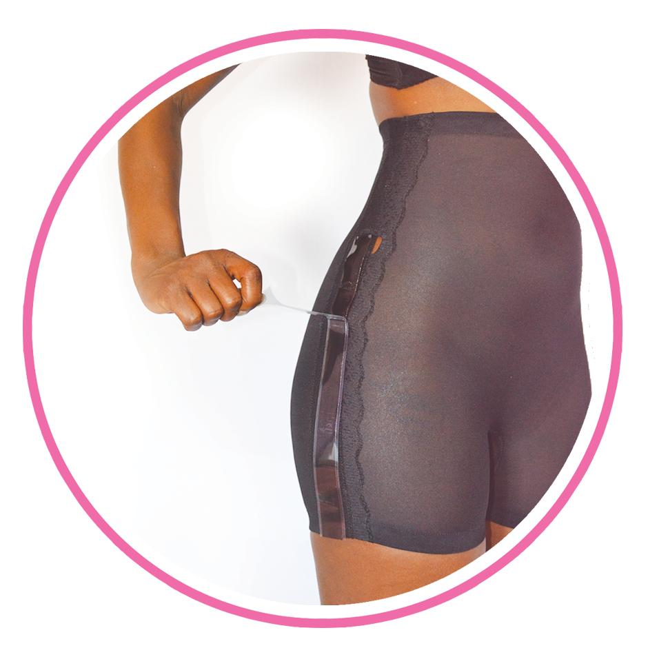 The Solution - A Shaper that Keeps Tight Dresses Down! Plus, Tummy Control. The No-Rise Panty® comes with our Holding Strips that attach to the shaper and to your dress for a seamless look! Our patented design is made to be washable and breathable, with strong compression fabric guaranteed to smooth your mid-section.