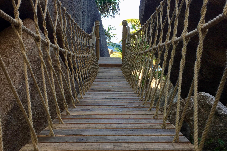 Rope Bridge in reclaimed timbers