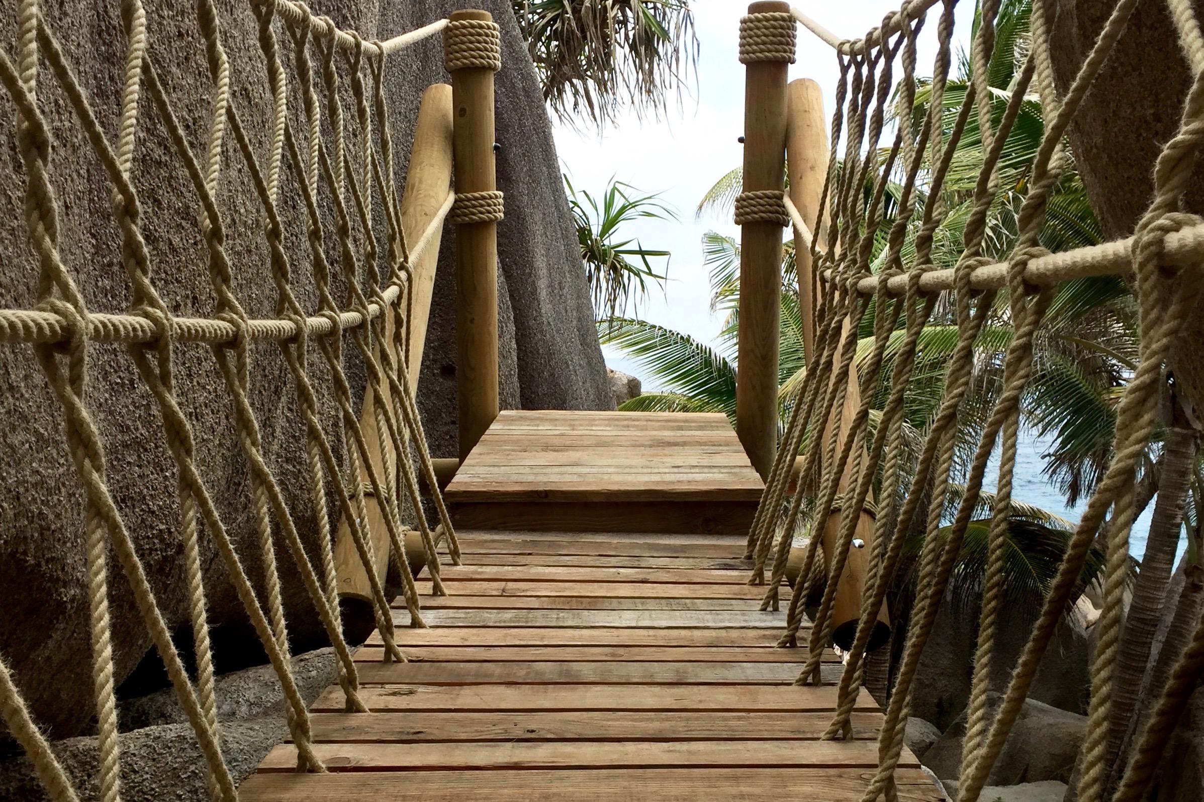 Rope Bridge deck and view