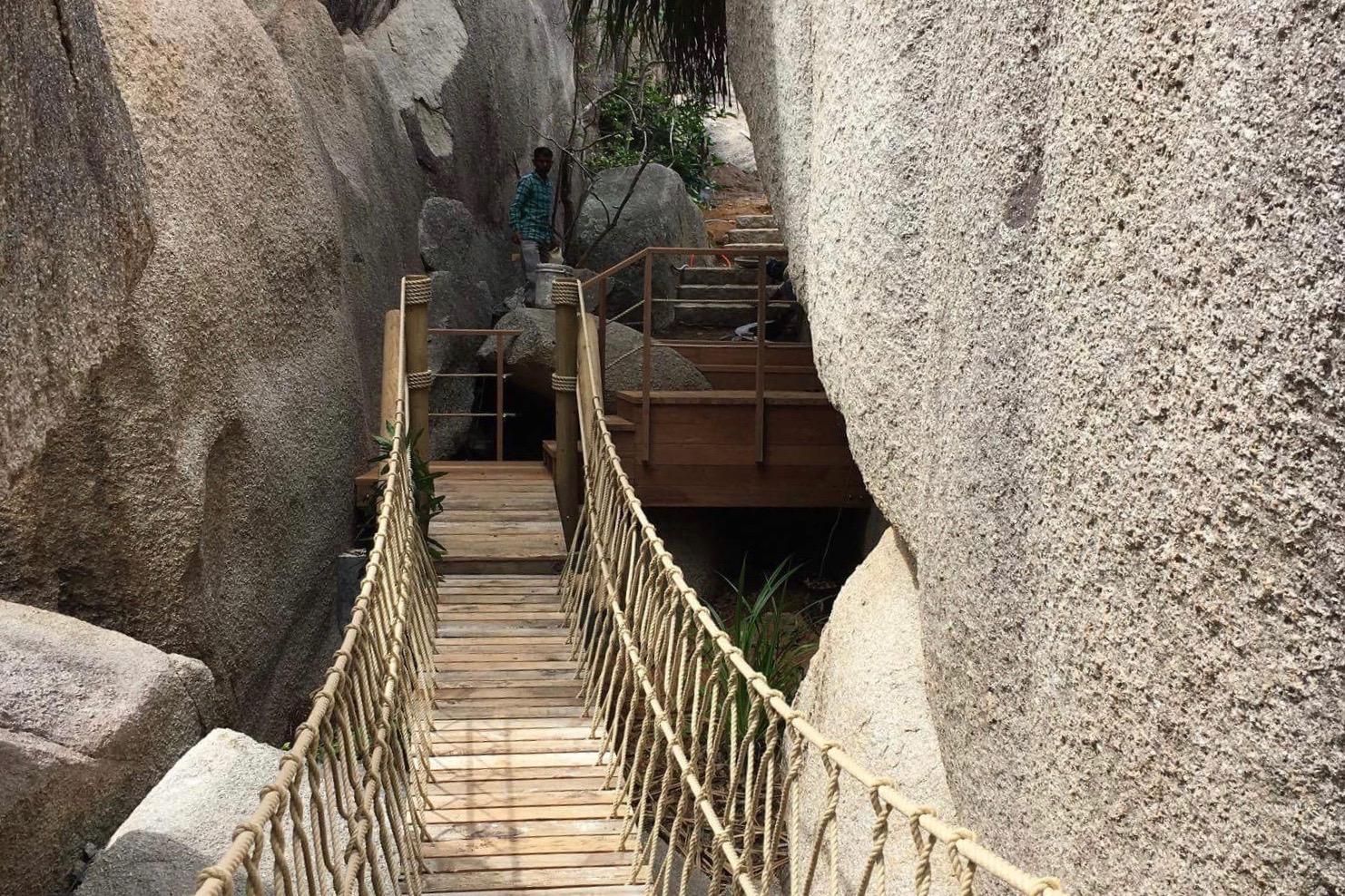 Rope Bridge deck and stairs