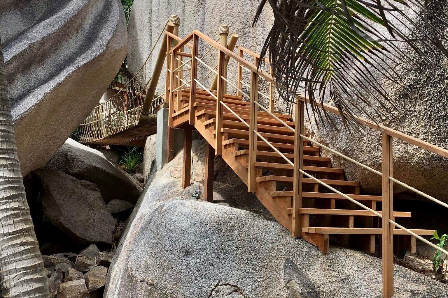 Rope Bridge stairs