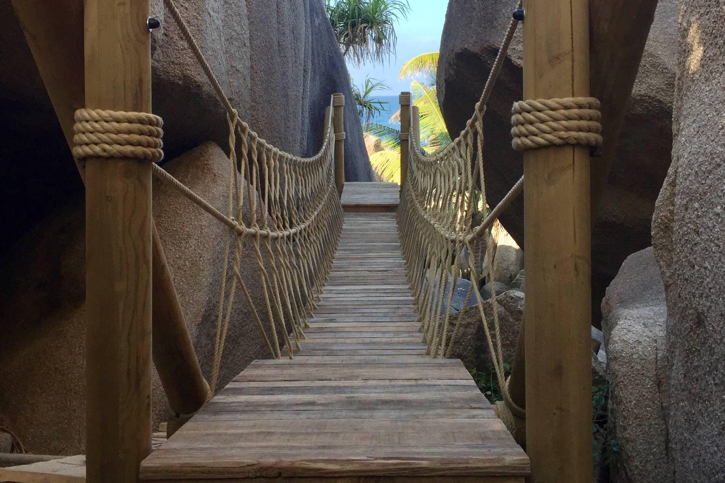 Rope Bridge for Spa Resort