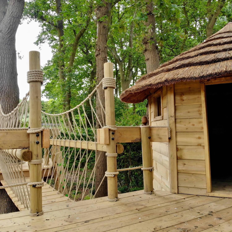 """...treehouse and rope bridge"""