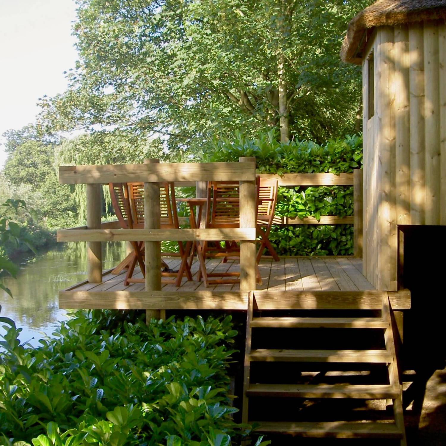 """""""...treehouse deck looking out over river"""""""