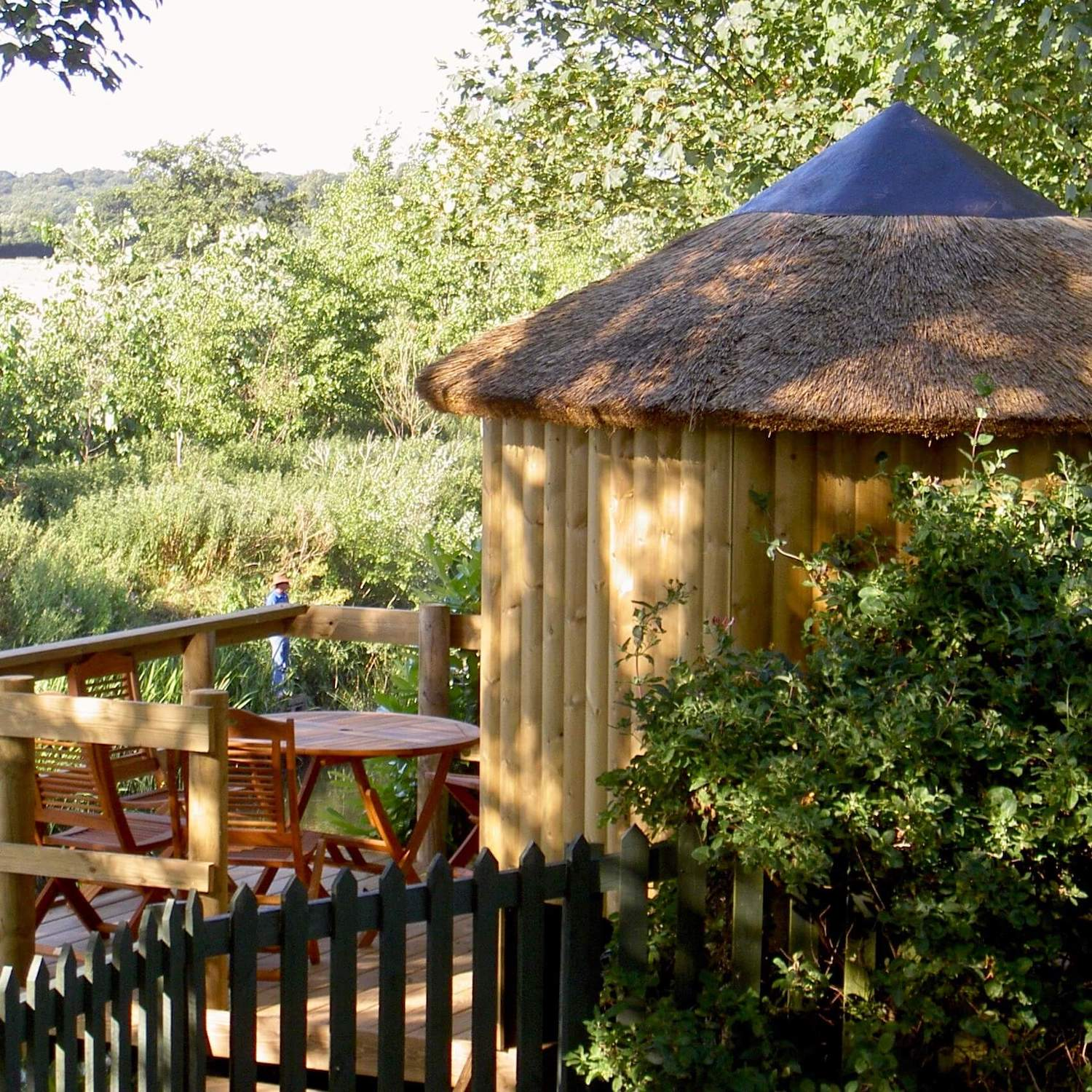 """""""...kids treehouse and grown-up suppers-deck"""""""