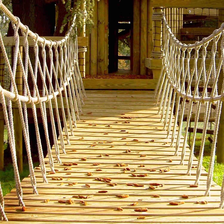 """...entrance rope bridge to treehouse"""