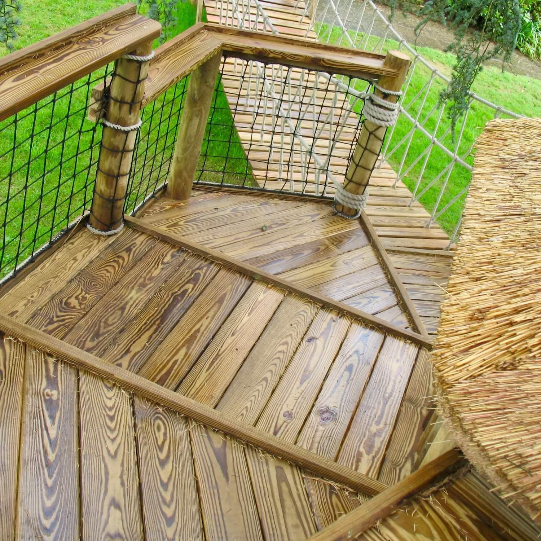 """...decks, platforms, balustrade and safety netting"""