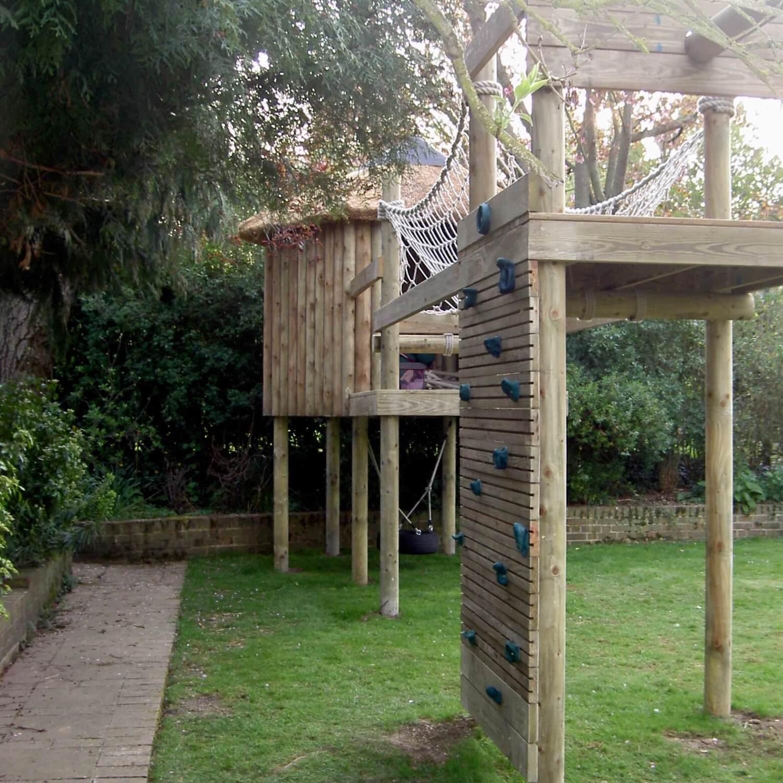 """""""...garden climbing wall platform"""""""