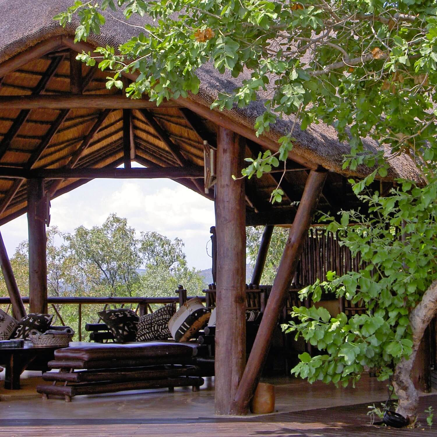 """...treehouse lounge under thatch"""