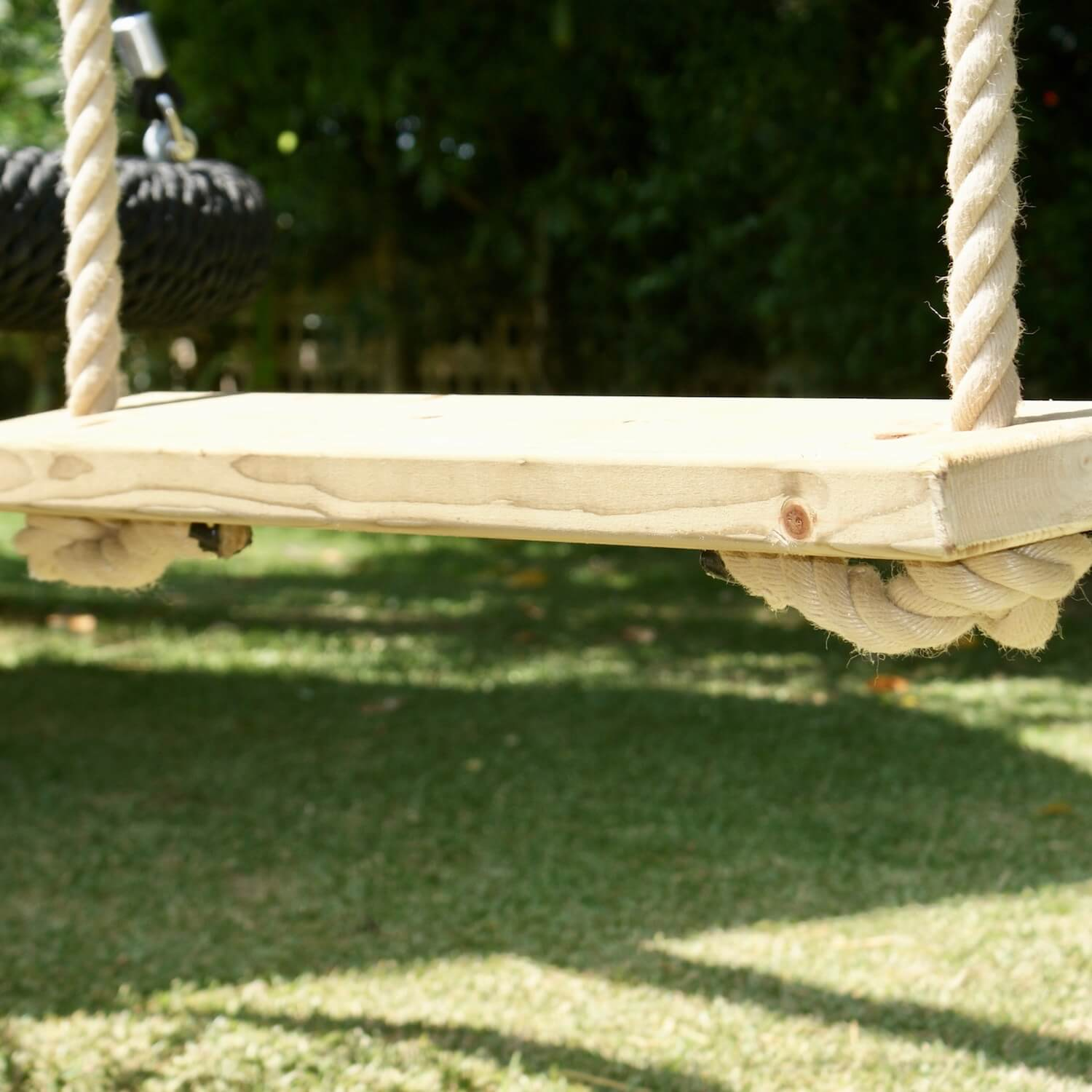 """...bespoke timber swing seat"""