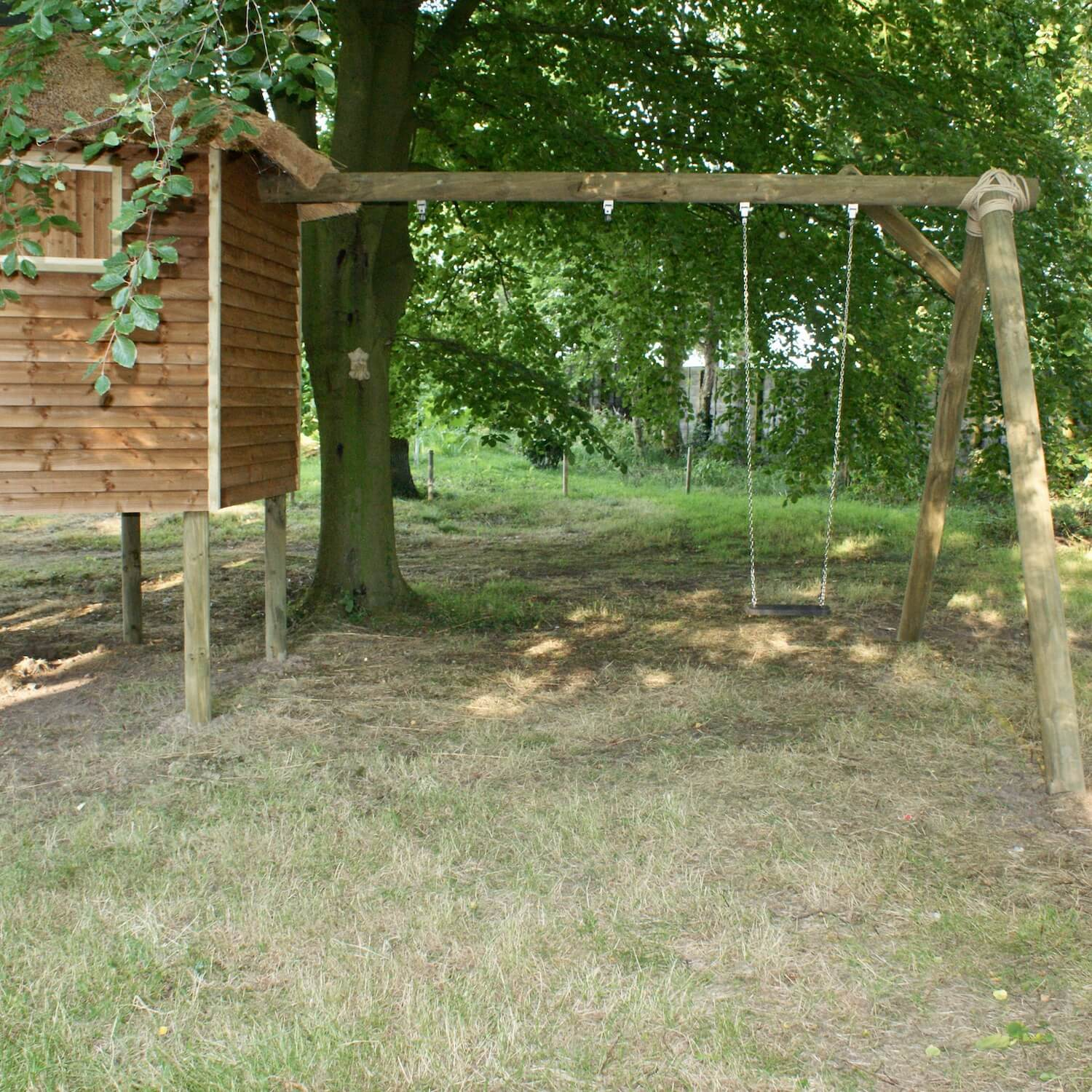 """...treehouse 'A' frame swing set"""