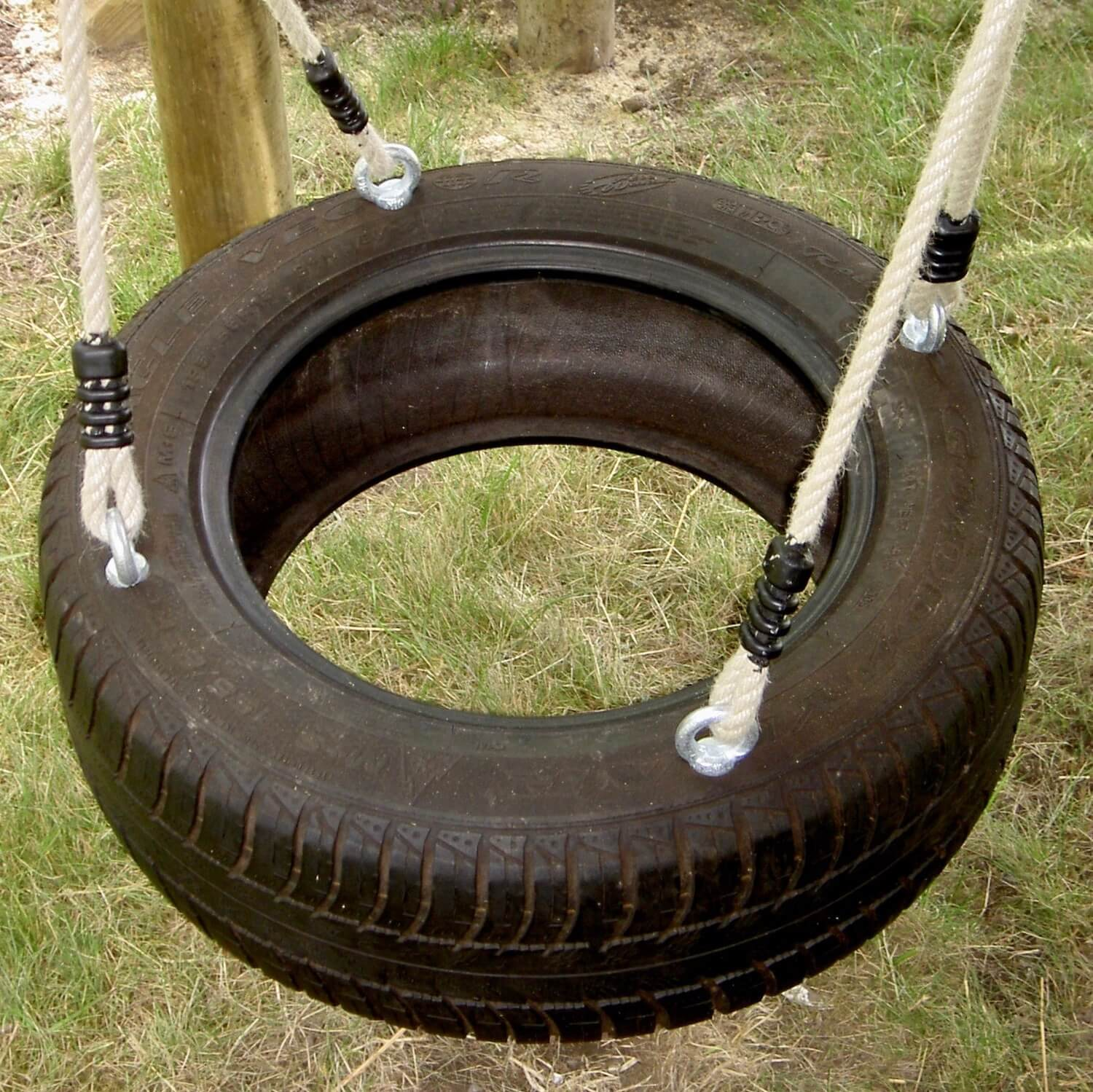 """...tyre swing for treehouses"""