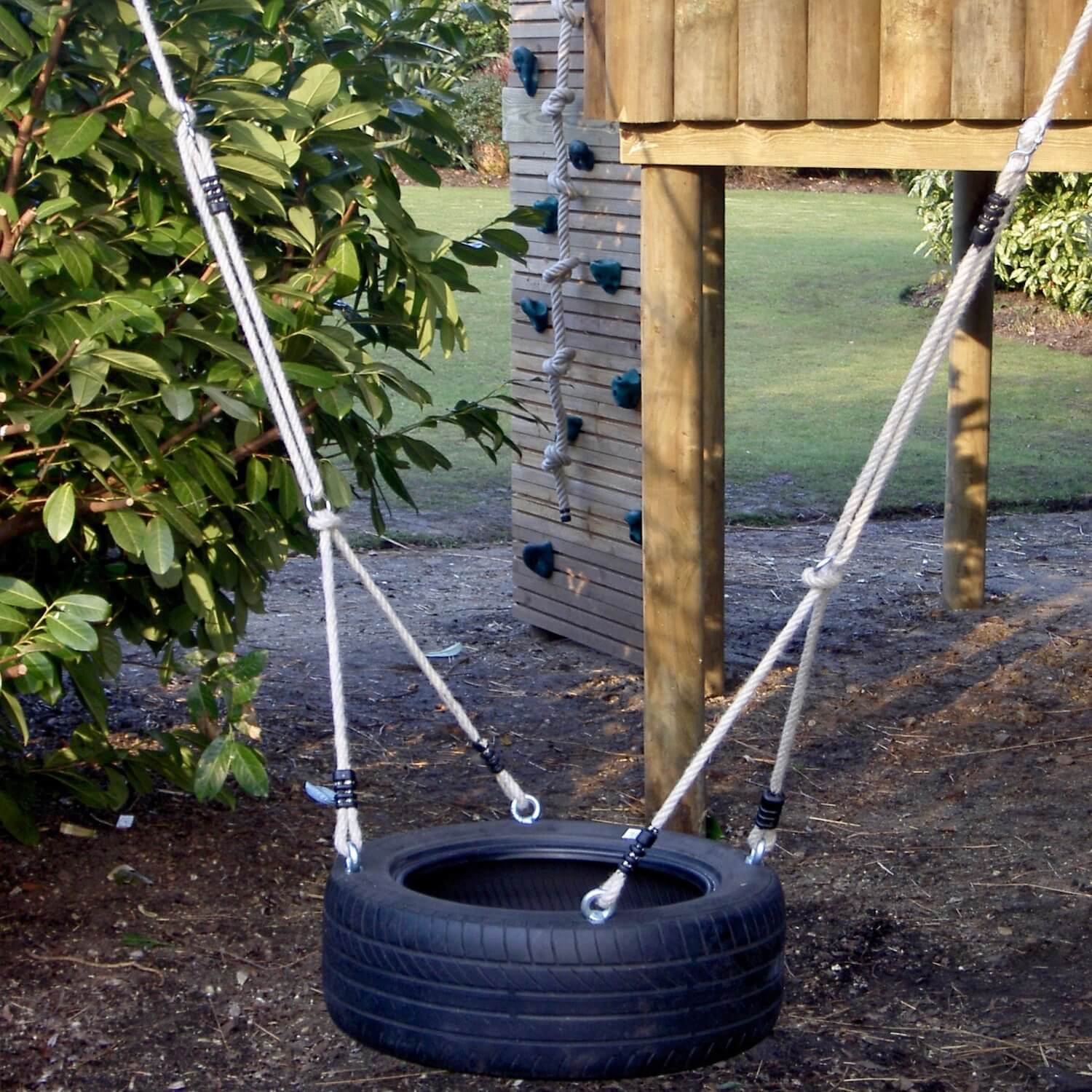 """...tyre swings for treehouses"""