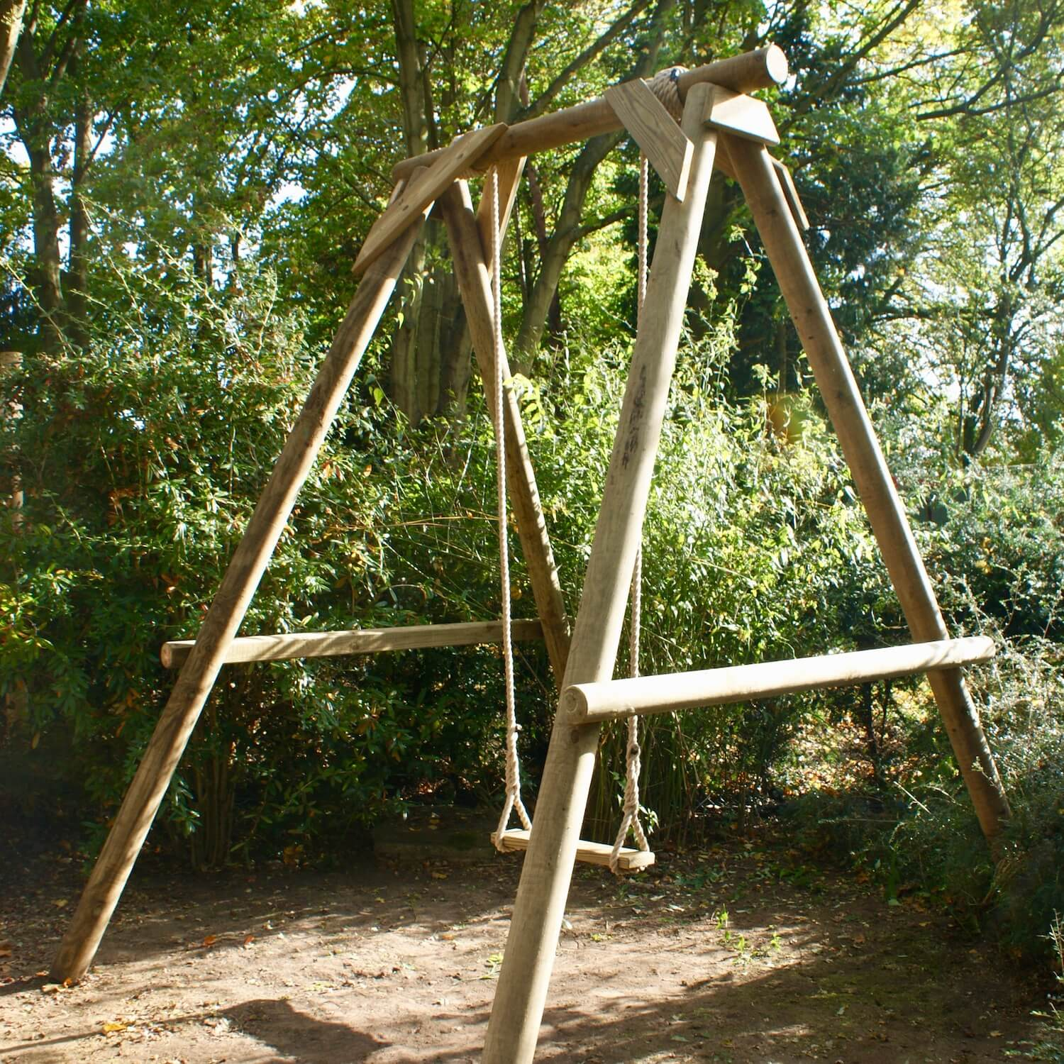 """...garden single wooden swing set"""