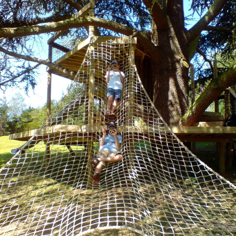 """...large treehouse scramble net"""