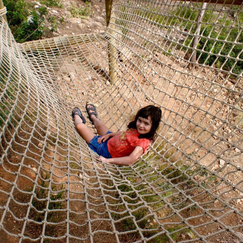 """""""...large sit-in scramble cargo net"""""""