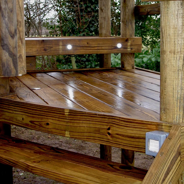 """...entirely waterproof treehouse deck lighting"""