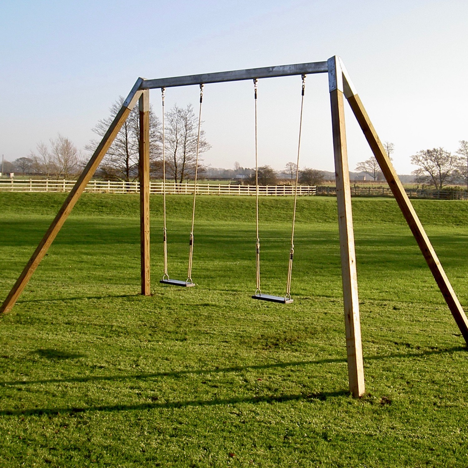 """...garden 'A' frame double swing set"""