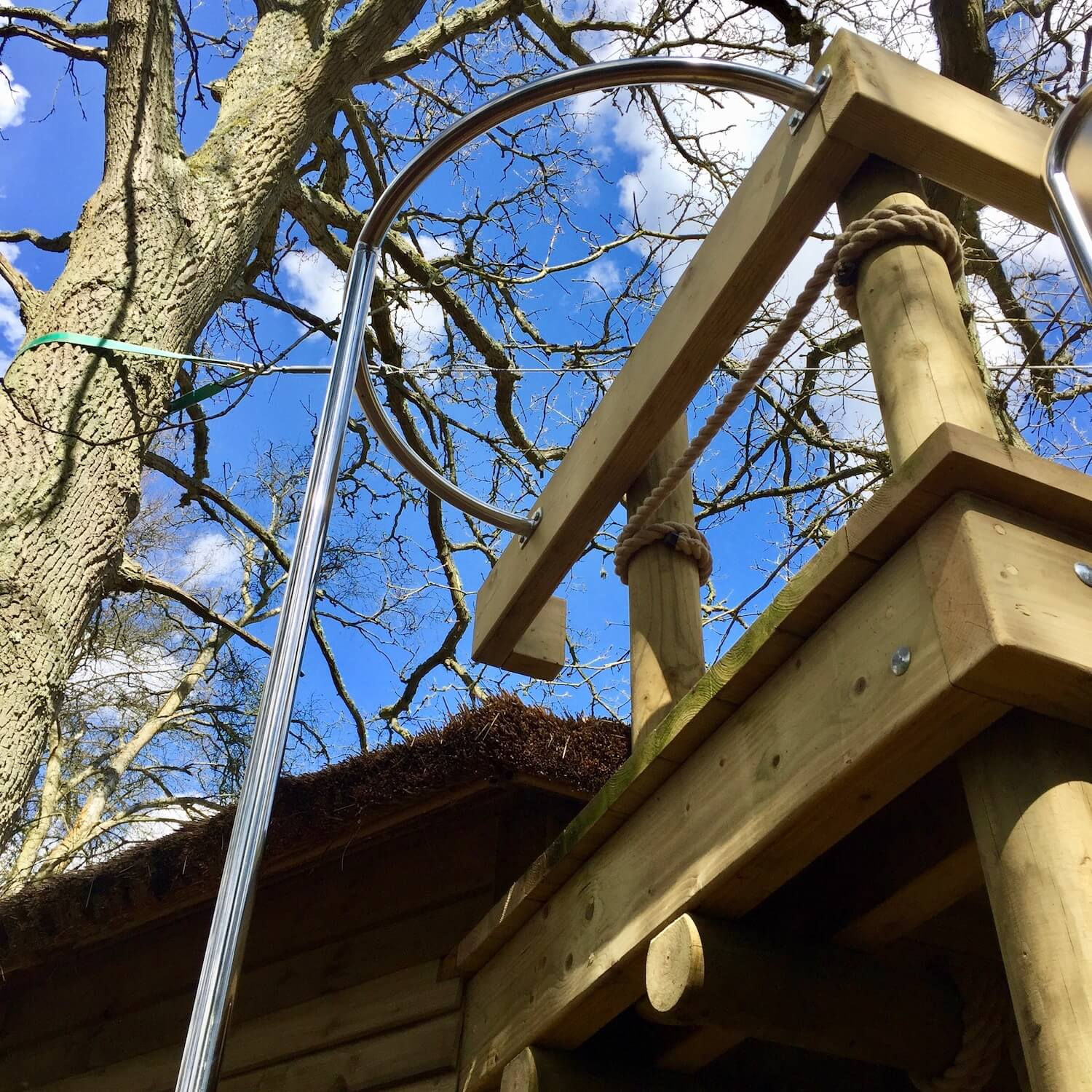 """...stainless steel fireman's pole for treehouses"""