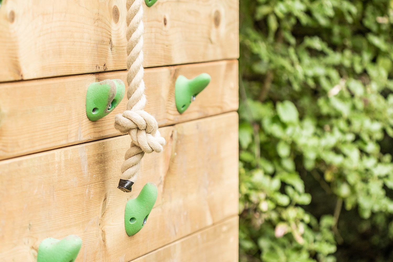 """""""...knotted rope and kids climbing wall"""""""