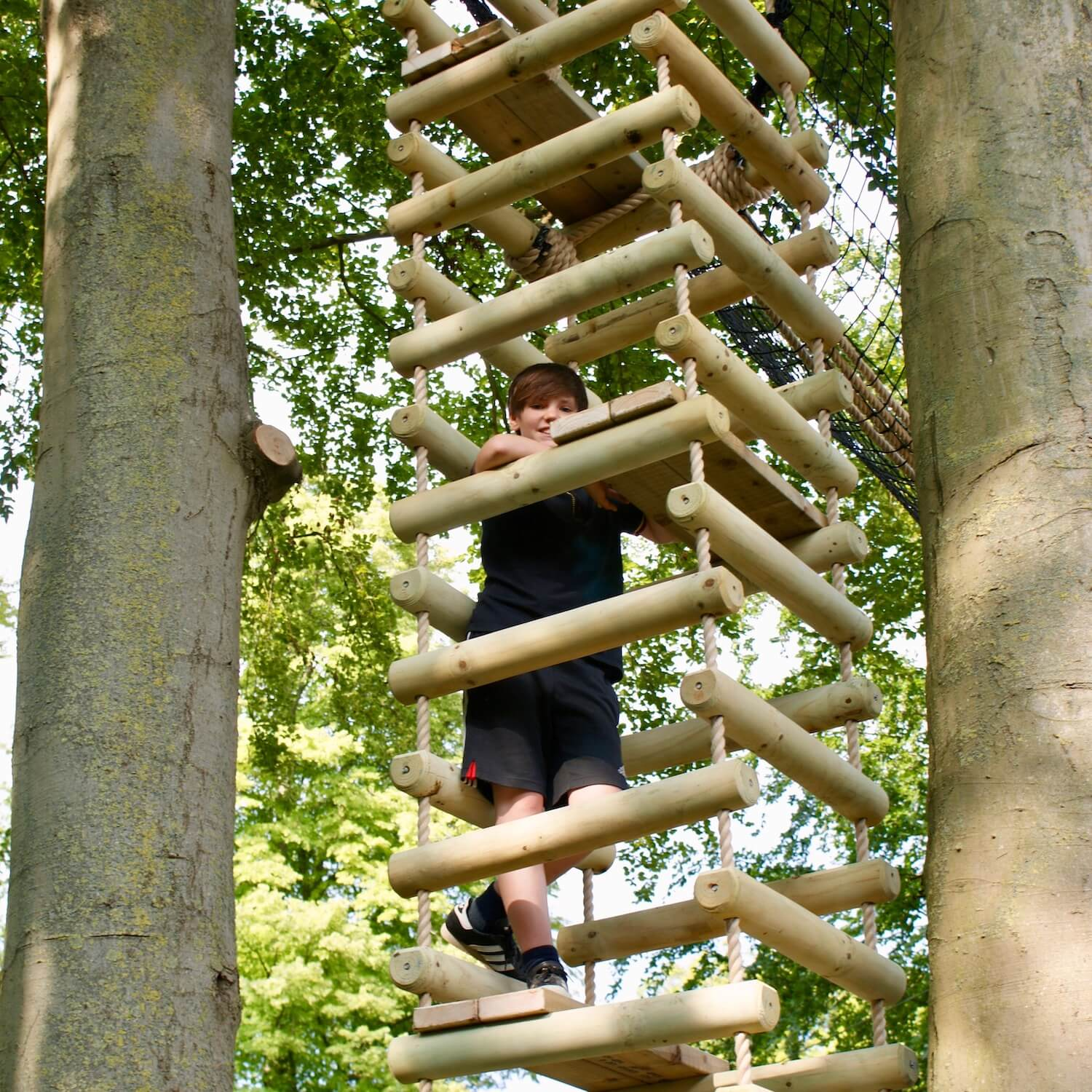 """""""...4-sided rope ladder between trees"""""""