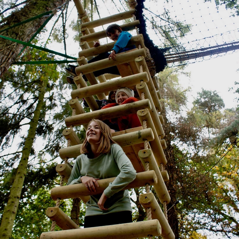 """...kids having fun in rope ladder"""