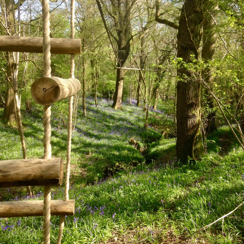 """...woodland 4-sided rope ladder"""
