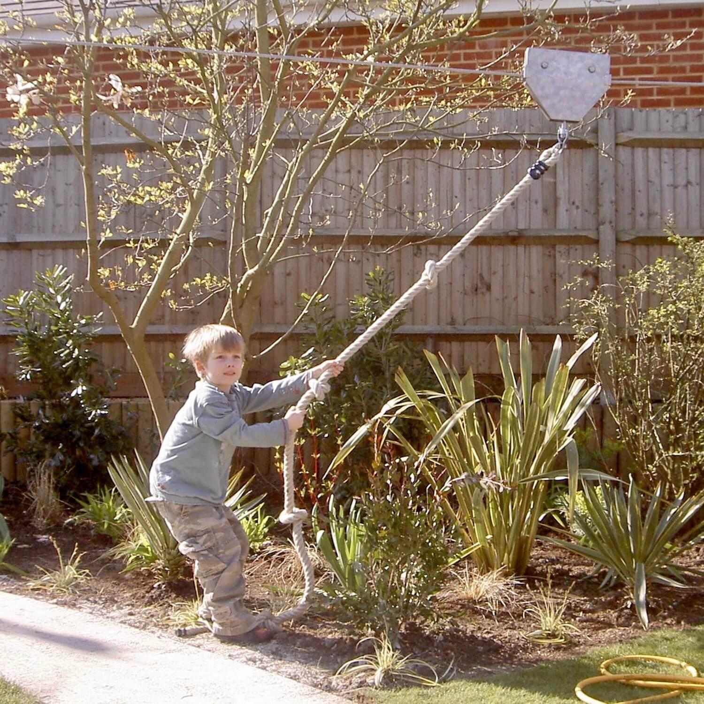 """...garden zip wire for kids"""