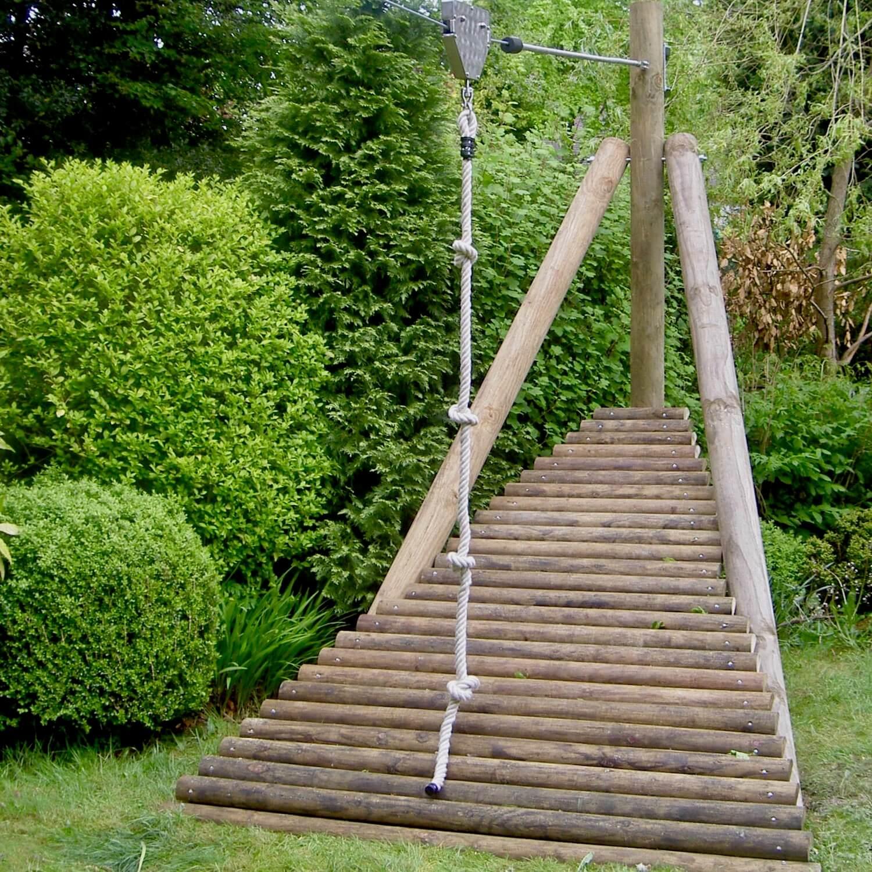 """...zip wire launch ramp for gardens"""