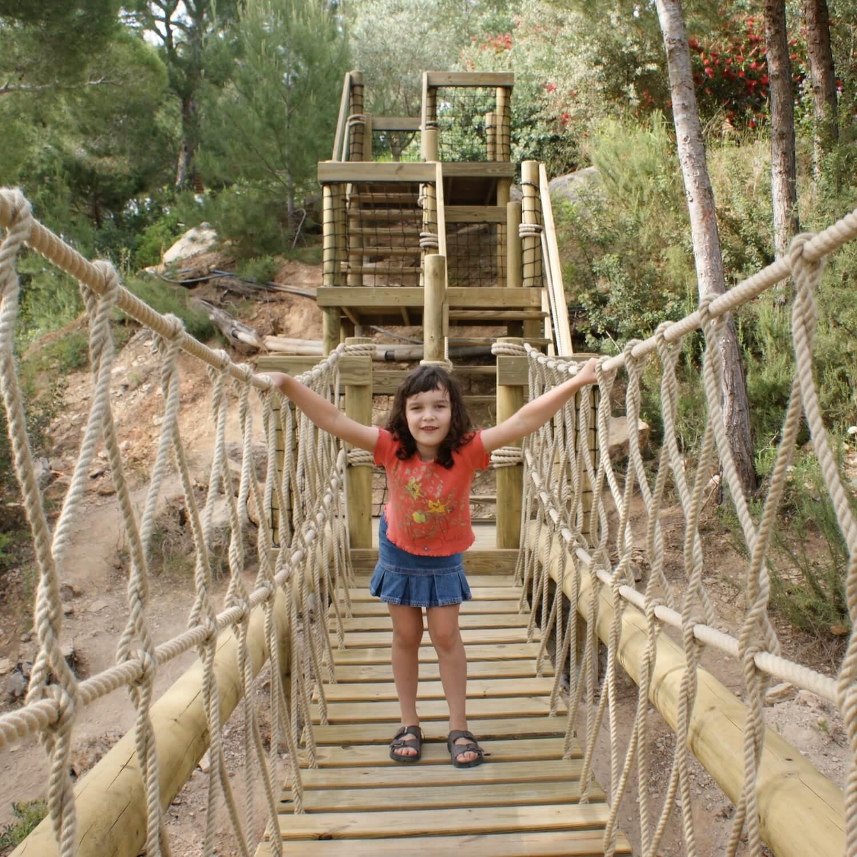 """""""...girl on rope bridge in Ibiza"""""""