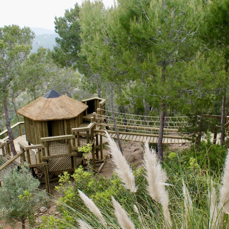 """...rope bridge and treehouse in Ibiza"""