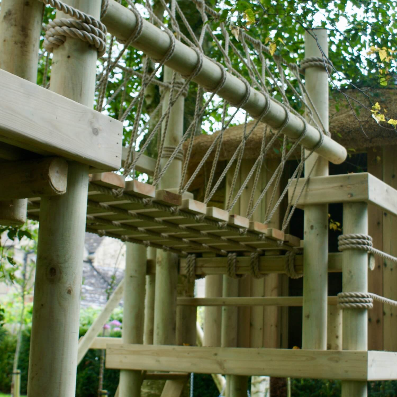 """...rope bridge between decks and platforms"""