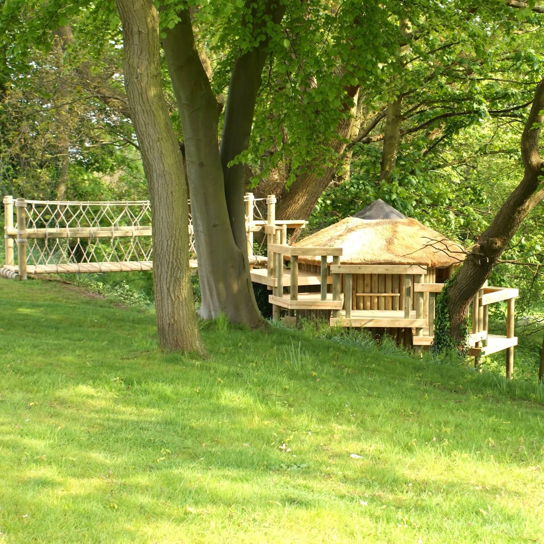 """""""...rope bridge entrance to woodland treehouse"""""""