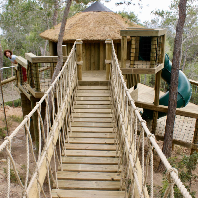 """...treehouse entrance rope bridge"""