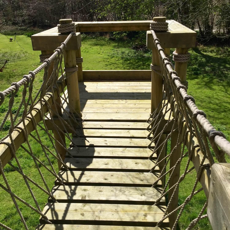 """...rope bridge and play deck"""