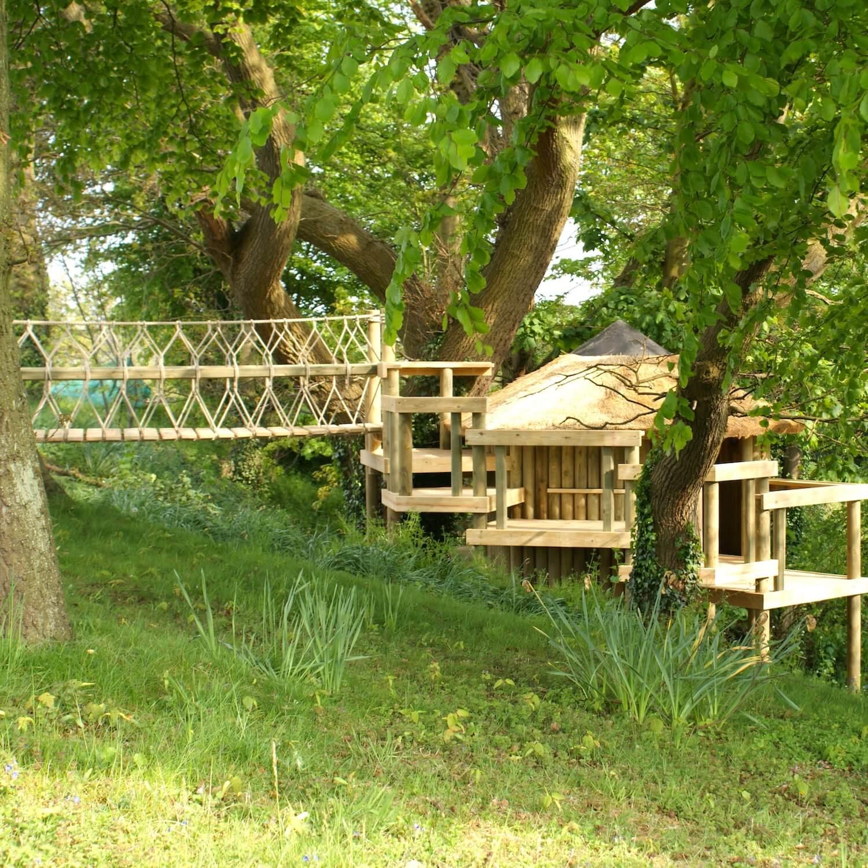 """...rope bridge entrance in woodland"""
