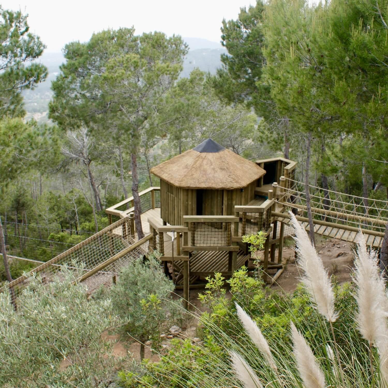 """""""...Ibiza treehouse and rope bridge entrance"""""""